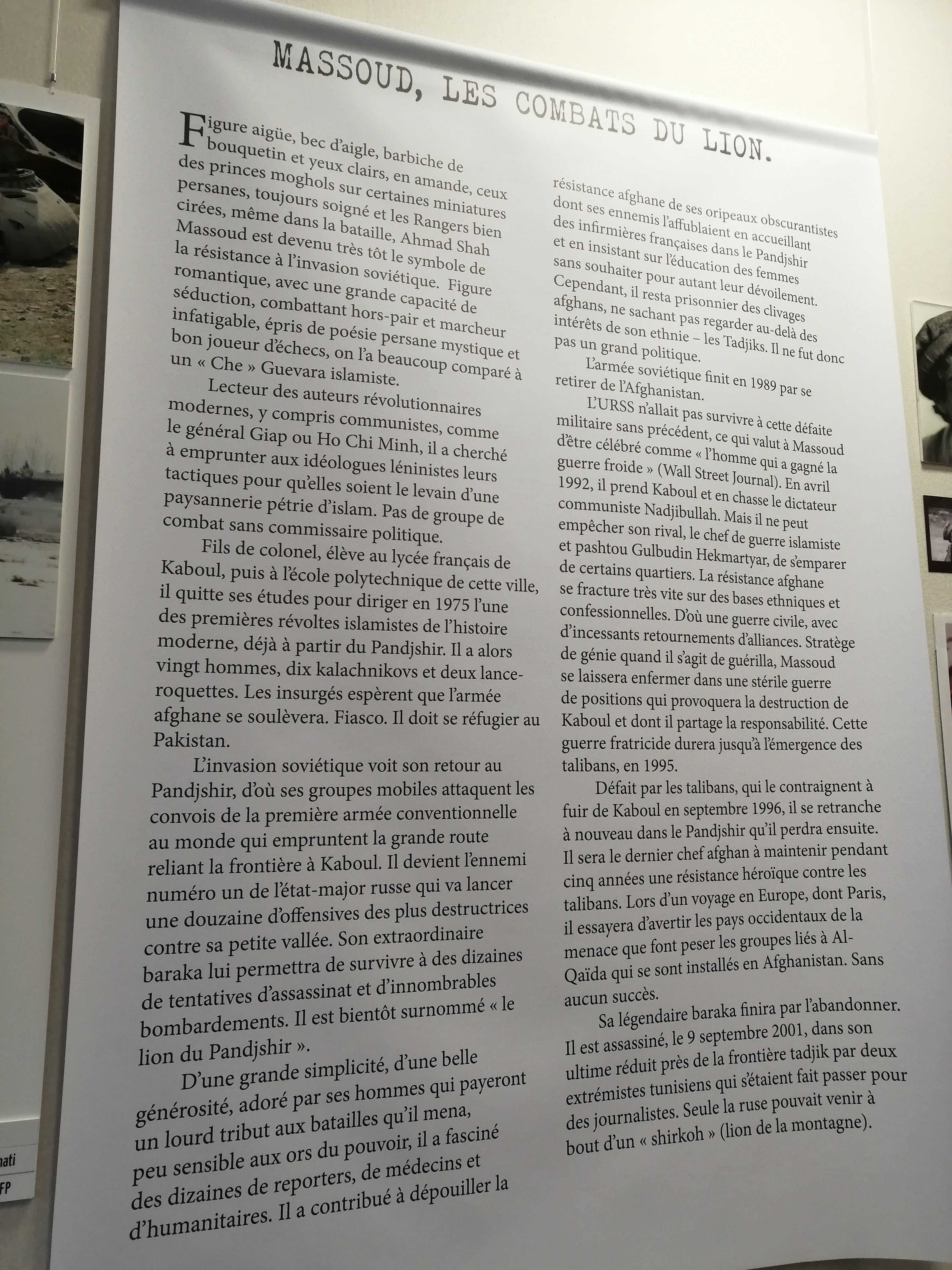 Exposition : Afghanistan, le terrain de guerre du monde Crédits photographiques: Mathilde Laurent